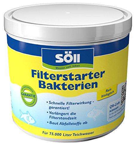 Söll 14432 FilterstarterBakterien hochreine Mikroorganismen für Teiche 500 g - natürliche Filterbakterien aktivieren die Biologie der Filter im Gartenteich Fischteich Koiteich Schwimmteich
