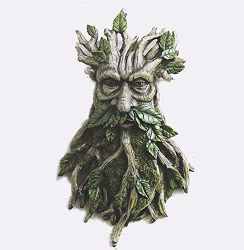FHFY Garden Keltischer Baummann Greenman Wandschild zum Aufhängen Garten Ornament