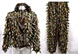 SZWYKW Camouflage Hunting 3D Leaf Ghillie Suit Clothing Jacket and Pants