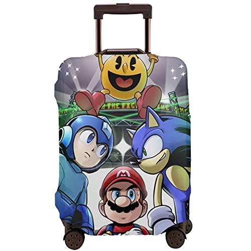 Super Smash Bros Mario Sonic Mega Man Maleta Protector Funda Lavable 3D Diseño 4 Tamaños para la mayoría de Equipaje Bolsa Protectora Cremallera