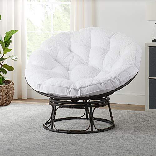 Better Homes & Gardens Papasan Chair with Fabric Cushion (White)