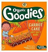 Organix Goodies Organic Carrot Cake Soft Oaty Bars 6 x 30g - Organixは、有機キャロットケーキソフトOatyバー6×30グラムをグッズ (Organix) [並行輸入品]