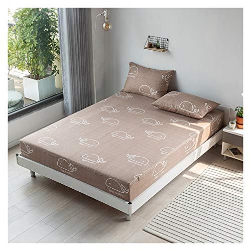 HOMFLOW Sängkläder Sexsidig All Inclusive Bäddmadrassen Andas Fade Resistent Sängöverkast Lätt Att Tvätta Elastic Borstad Fabric (Color : B, Size : 150X200+10cm)