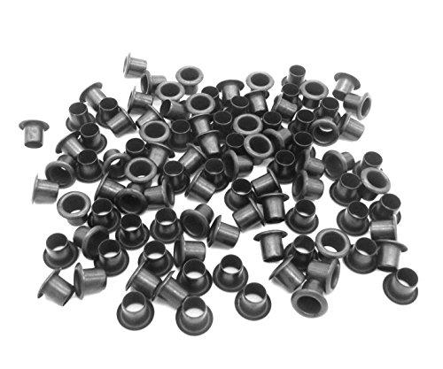 "QuickClip Pro Mil-Spec Kydex Eyelets GS 8-10, Brass Black Oxide 1/4"" DIY Gun Holster Knife Sheath Grommets (100)"