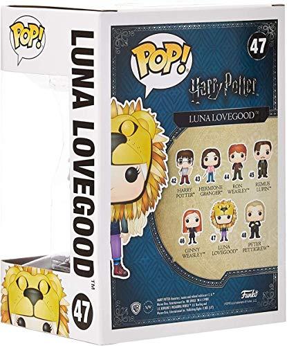 Figura de Vinilo Funko Pop-Harry Potter-Luna Lovegood con Cabeza de león 14944-Estándar