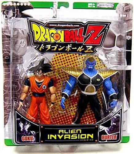 Dragonball Z Alien Invasion Action Figure 2-Pack Goku Vs. Burter [Green Package]