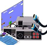 Texas Deluxe Retro Classic Video Game Console Special Long 8ft HDMI - 621 in 1 Built-in Plug and Play Video Games (Some are Repeated) with 2 Controllers Handheld Games for Kids & Adults