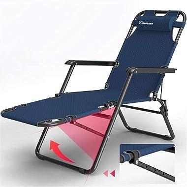 BDRSLX Garden Loungers and Recliners Folding Footrest 3 Position Adjustment Sun Lounger Chair Garden Sunbed Recliner for The