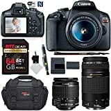 Canon EOS T7 DSLR Double Zoom Kit with 75-300mm III and 18-55mm Camera Kit with Memory Card, Camera Bag, and More
