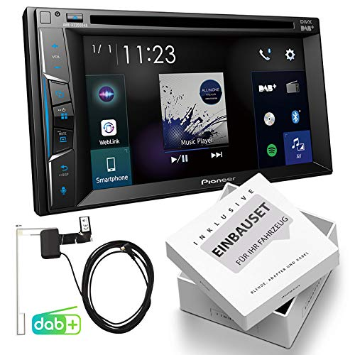Pioneer AVH-A3200DAB 2-DIN DAB multimedia receiver incl. antenne Bluetooth geschikt voor Seat Ibiza IV, inkl Canbus, nitschwarz