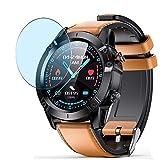 Vaxson 3 Stück Anti Blaulicht Schutzfolie, kompatibel mit AGPTEK G20 smartwatch Smart Watch, Displayschutzfolie Bildschirmschutz [nicht Panzerglas] Anti Blue Light