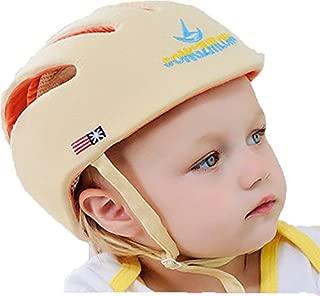 SONGZHILONGベビー・幼児 用 可愛い 洗える スポンジ ヘルメット 綿100% (ベージュ)