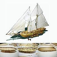 モデル船ウォータークラフトモデル構築キット船モデルボートキット1:100スケール木製木製ヨット船キットホームDIYボートギフト用