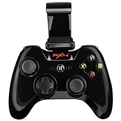 PXN 6603 Apple MFi Certified Gamepad Joystick Controlador Mando Juego Bluetooth Inalámbrico para iOS 7.0+ (Negro) Soporta la Reproducción Remota de PS4