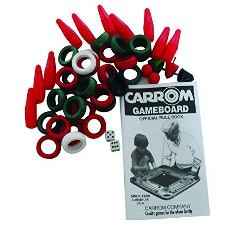 Carrom Rings and All Playing Pieces Except Cues, by Ahh! Products