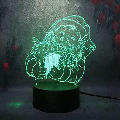 YHZSML Kid Creative Weihnachten DIY Toy Home Lava Lampe Freundlich Weihnachtsmann gesendet Geschenk Beleuchtung 3D USB Schreibtisch Nachtlicht RGB Ladebirnen