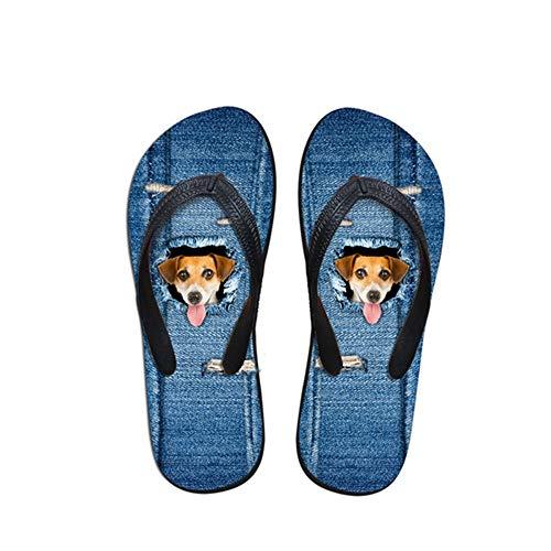 Zuyau Sandales Homme Tongs Homme Mules Tongs Hommes Hommes Animaux Mignons Imprimés Hommes Pantoufles Été Plage Homme Sandales en Caoutchouc Doux Chaussures 11
