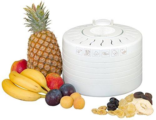 Foto von Clatronic DR 2751 Dörrautomat (250 Watt, trocknet Obst, Gemüse, Kräuter, Fleisch und mehr, 5 stapelbare Ebenen) weiß