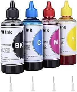 Inkjet Printer Refill Ink Dye Bottles Kit for LC201 LC203 LC20E Refillable Ink Cartridges or CISS, for MFC-J870DW, MFC-J45...