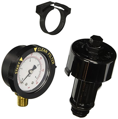 Pool Filter Pressure Gauge with Backwash Indicator and High Relief Valve