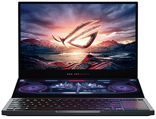 "ASUS ROG Zephyrus Duo 15 Gaming Laptop, 15.6"" 300Hz FHD IPS Type, NVIDIA GeForce RTX 2080S Max-Q, Intel Core i9-10980HK, 16GB DDR4, 1TB PCIe SSD, Per-Key RGB, Thunderbolt 3, Win10 Pro, GX550LXS-XS96"