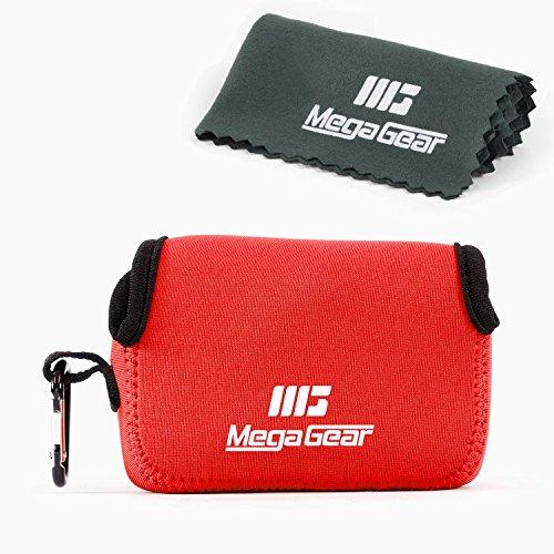 MegaGear ''Ultra Light'' Neopren-Kameratasche mit Karabiner für Samsung WB350F (Rot)