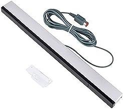 NewBull Barra de sensor de movimiento remoto con cable IR Rayo infrarrojo inductor para Wii Wii U (barra de sensor de plata)