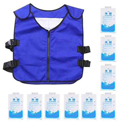 FAVOMOTO Chaleco Deportivo de Refrigeración Ropa de Refrigeración con 20 Paquetes de Hielo Chalecos de Refrigeración de Hielo Prácticos para Mujeres Y Hombres
