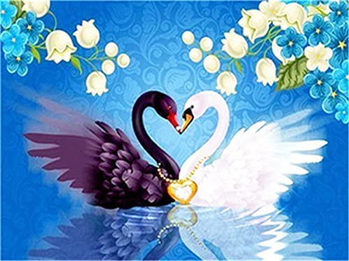 5d Diamond Painting Full Drill Square Swan Kits Diamond Embroidery Cross Stitch Animal Mosaic Decor For Home A9 50x65cm