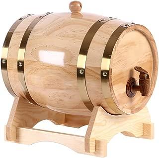 TONGSH Personalized Tequila Oak Barrel   3 L / 5 L / 10 L / 15 L / 20L / 30L / 50 L Custom Engraved American White Oak Aging Barrel - Age your own Tequila, Whiskey, Rum, Wine, Beer, Vinegar