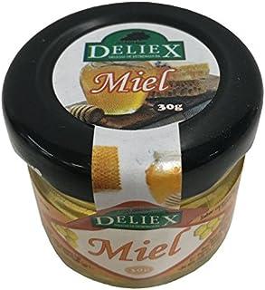 miel miniatura milflores para regalo en tarro de cristal de 30 gramos marca Deliex
