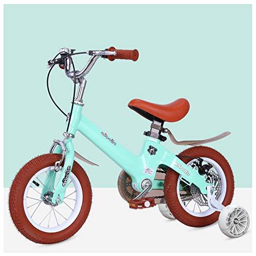 Kinderfiets, groene fiets, jongensfiets, 3-9 kinderfiets, schijfrem, hulpflits, 12/14/16/18 inch.