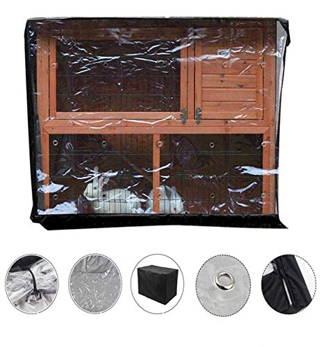 Rabbit Hutch Cover,Thickening Rabbit Cage Cover 210D Oxford Cloth Small Animal Cage Dust Cover Hutch Covers, 122 * 50 * 105cm (Size : 122x50x105cm)