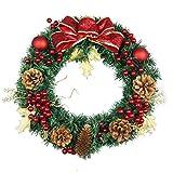 Bageek Corona de Navidad Adornos Navideños Guirnalda Puerta 30cm Navidad Fiesta Regalo