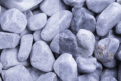Kies Splitt Zierkies Edelsplitt Kristall Blau getrommelt, 40-60mm Sack 20 kg