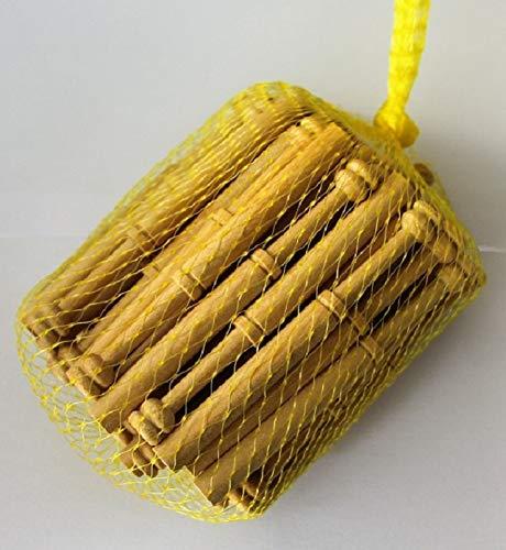 Malla 50ud bolillos de 12cm madera guatambú