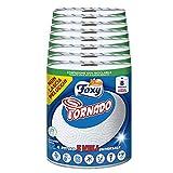 Foxy Tornado   8 rollos   250 hojas por rollo   Rollo de 3 capas universal   Papel 100% certificado FSC®   Envase 100% reciclable