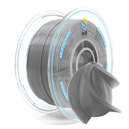YOUSU PETG 3D Printer Filament 1.75mm Gray,1kg, Better Physical Strength and Layer bonding Performance. Compatible with Most of 3D Printer.