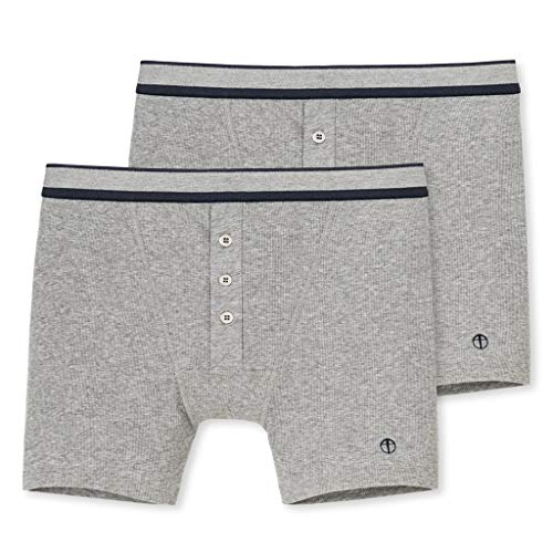 Schiesser Naturbursche - Retro-Shorts - 128614-2er Spar-Pack (8 grau-meliert)