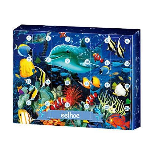 BSTQC Underwater World - Caja de regalo con cuenta regresiva para habitación infantil
