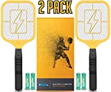 Ostad Bug Zapper Racket: Electric Fly & Mosquito Swatter Mini Handheld Battery Powered, 2 Pack from for Total Pest Control