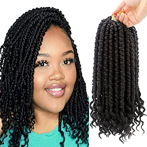 8 Packs Spring Senegalese Twist Crochet Braids Curl End Crochet Hair...