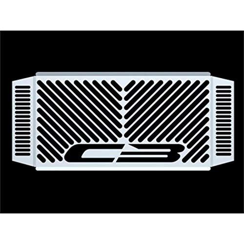 IBEX 10001681 Kühlerabdeckung Wasserkühler Kühlergrill Kühlerschutz Kühlergitter Kühlerschutzgitter Kühlerverkleidung Design Logo silber