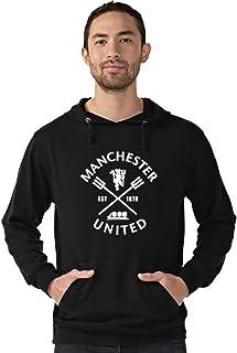 CUPIDSTORE Football Sweatshirt- 9 Manchester United Est 1878 Bue Red Black Hoodies for Mens