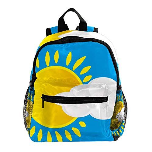 Sun White Clouds Sac À Dos 3-8 Ans Enfants Léger Toddler Daypack pour Maternelle Et Le Voyage De Bébé Sac À Langer