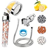 Ionic Vitamin C Shower Head Filter for Hard Water, High-Pressure Handheld Showerhead & 70% Water saving (With Hose And Bracket), Rich Vitamin C for Dry Hair & Skin SPA, With Citrus Fragrance A