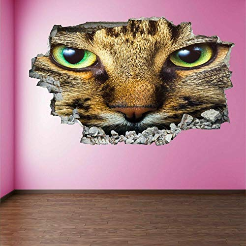 MXLYR Pegatinas de pared Cat Eye 3D Wall Art Sticker Calcomanías murales Decoración de dormitorio de niños