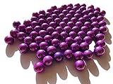 Rhinestone Paradise 500 g más de 90 canicas moradas de cristal para decoración, 16 mm, color violeta