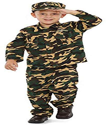 Dress Up America Disfraz de Soldado de ejército niños