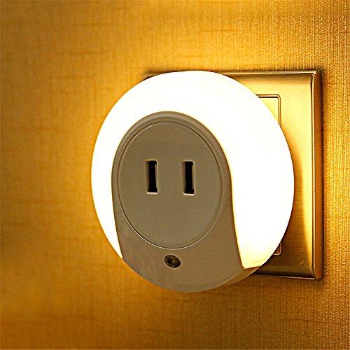 Z&MDH Creatieve led-stekker wandlamp, kinderslaapkamer, slaapkamer, nachtkastje, woonkamer, slaapkamer, nachtlampje, wordt geleverd met USB-aansluiting